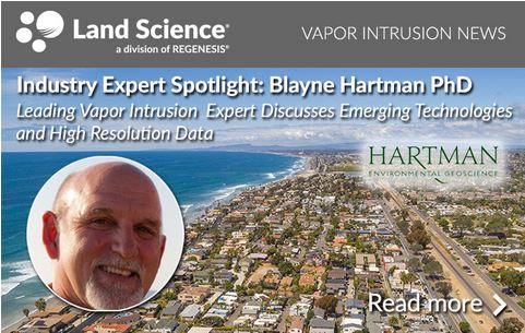 Blayne Hartman PhD, President of Hartman Environmental Geoscience