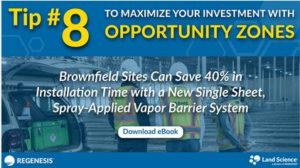 Brownfield Sites Can Save 40% in Installation Time with a New Single Sheet, Spray-Applied Vapor Barrier System