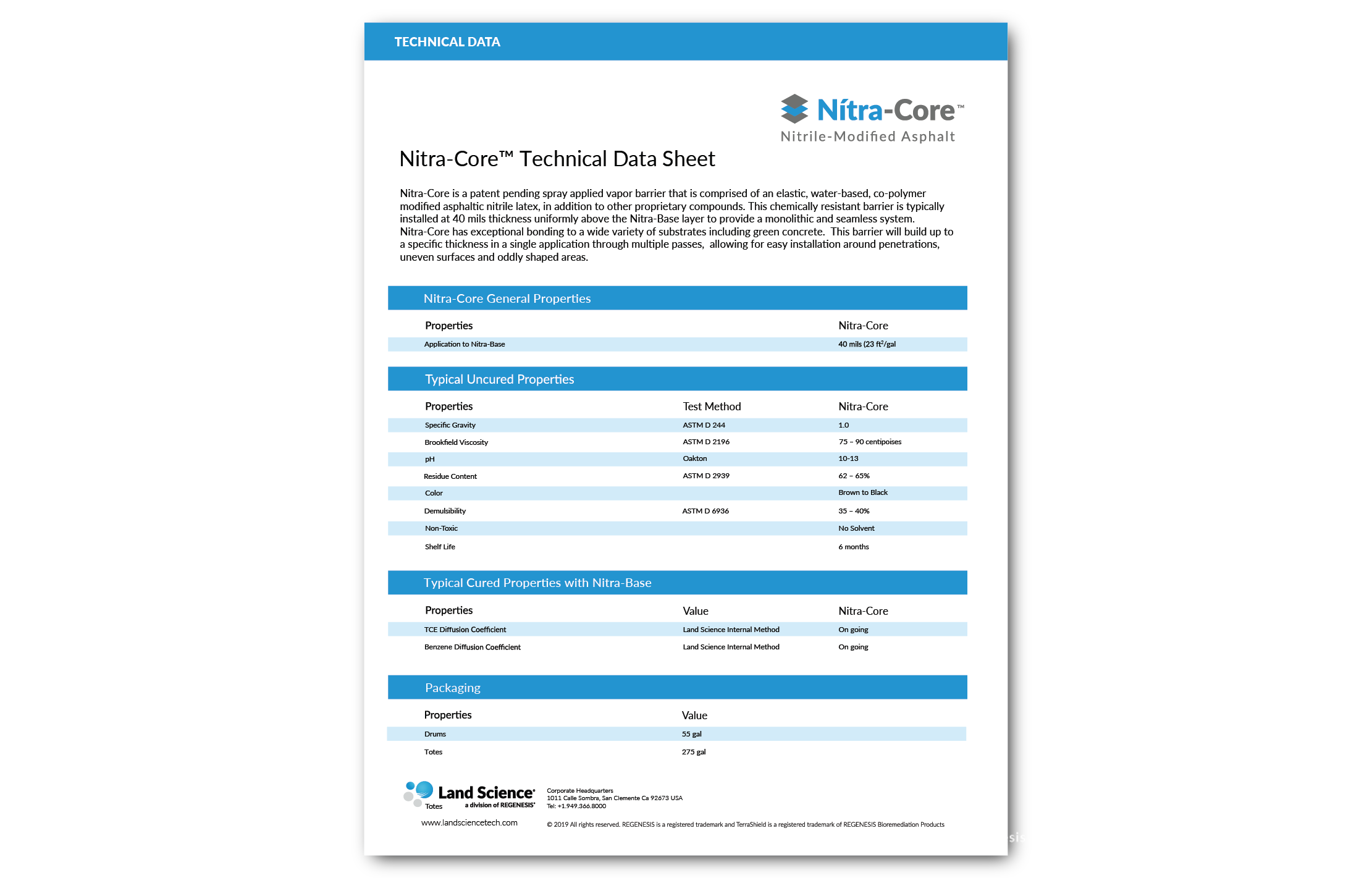 Nitra-Core Technical Data Sheet